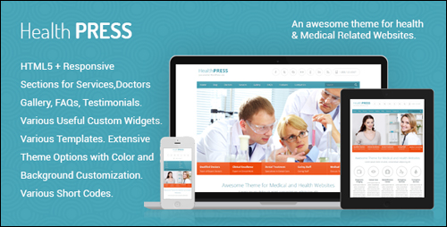 HealthPress Theme For WordPress