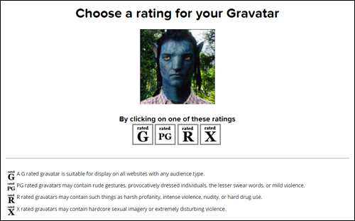Gravatar image ratings