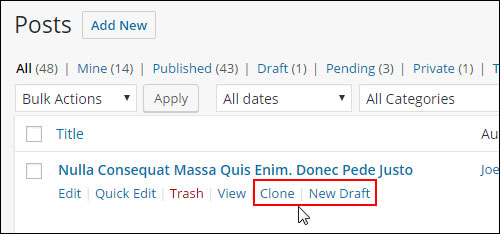 Duplicate Post - WordPress plugin - Cloning links