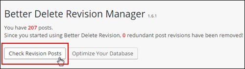 Check Revision Posts - Better Delete Revision Manager