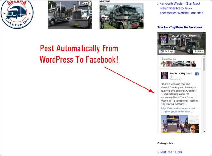 Post automatically from WordPress to Facebook