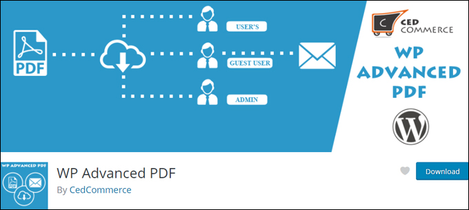 WP Advanced PDF