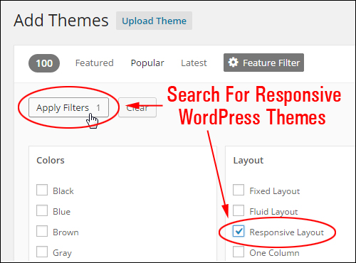 Use The Theme Feature Filter