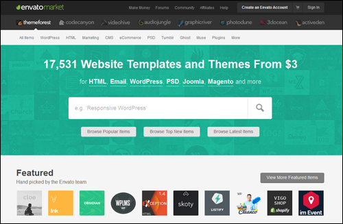 ThemeForest - directory of WordPress themes
