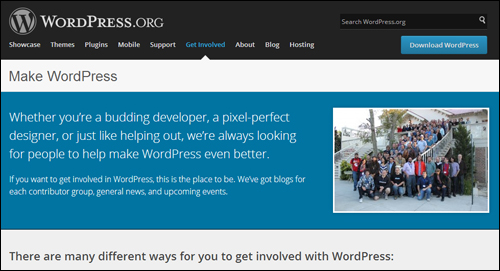 A volunteer community of thousands of web developers worldwide is responsible for building and maintaining WordPress.