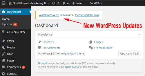 WordPress continually releases new version updates to address security vulnerabilities