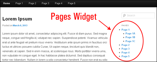 WP Pages Widgets