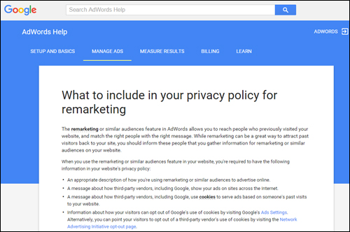 Google AdWords - Policy Requirements
