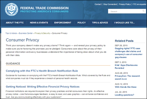 Federal Trade Commission - consumer policies and regulations