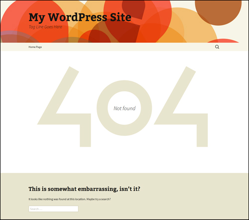 A WordPress 404 Page