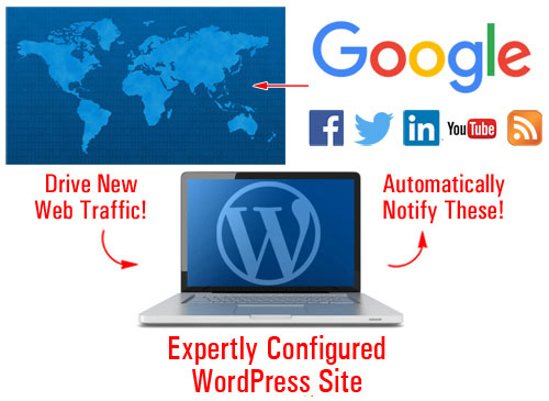 With an expertly configured WordPress site, all you have to do is post great content consistently to bring web traffic!