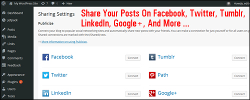 Share your posts automatically on various social media accounts.