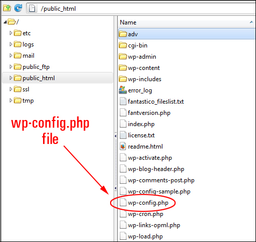 wp-config.php file