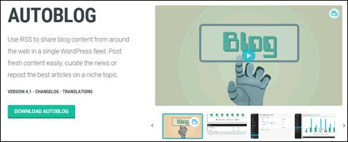 Autoblog Plugin For WordPress