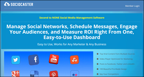 Sociocaster - Social media management for entrepreneurial marketers