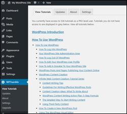 WPTrainMe WordPress User Tutorials Plugin