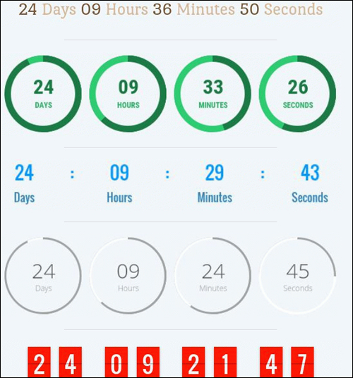 Convert more subscribers withgraphic elements like countdown timers