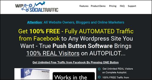 WP Social Traffic - Facebook Traffic Generation Plugin