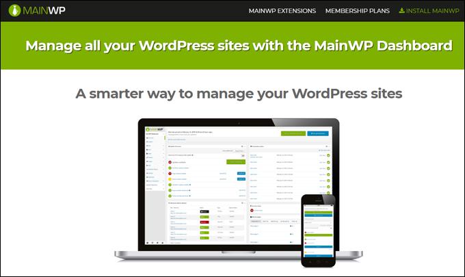MainWP - Manage multiple WordPress sites