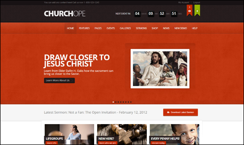 WordPress Theme - ChurcHope