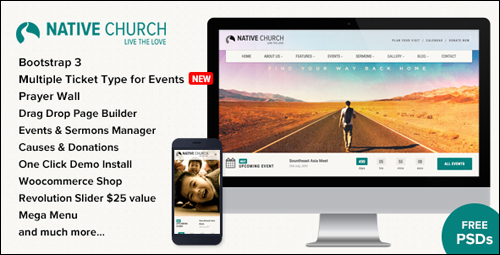 WordPress Theme - NativeChurch