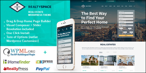 WordPress Theme - Realtyspace