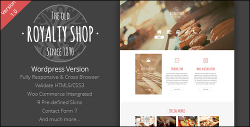 Royalty Shop WordPress Theme