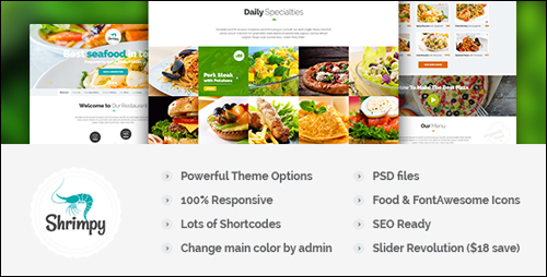 WordPress Theme - Shrimpy