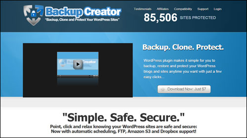 Backup Creator - Back Up, Duplicate And Protect Your WP Sites