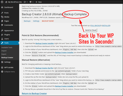 Backup Creator - Backup, Clone & Protect Your WordPress Website