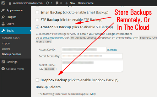 Backup Creator - Back Up, Clone & Protect Your WordPress Web Sites