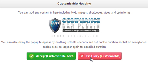 Compliance Bar Plugin - Compliance Plugin For WordPress