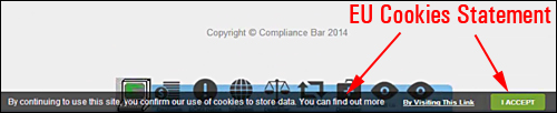 Compliance Bar Plugin - Total Legal Website Compliance And Disclaimer Solution