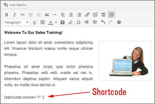 WP Courseware shortcodes