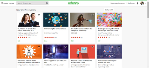 Udemy.com offers over 30,000 ecourses covering all topics!