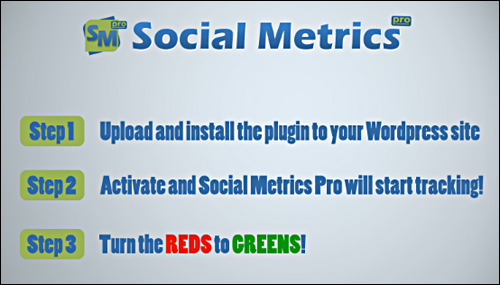 Social Metrics Pro is very simple to use ... just change all the red squares into greens!