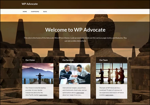 WP Advocate Theme For WordPress