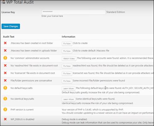 WP Total Audit - Find & fix 17 hidden WordPress dangers in seconds!