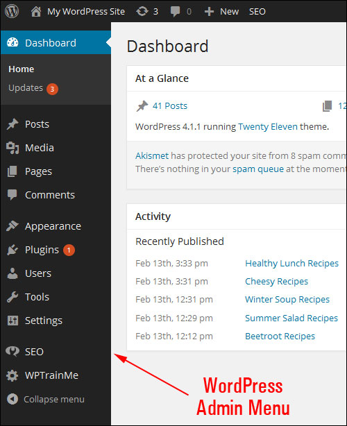 Your WP Admin Section - A Step-By-Step Tutorial