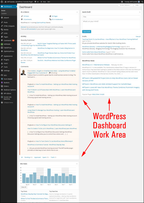 How To Use The WordPress Admin Screen