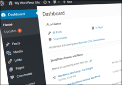 The WordPress {Dashboard|Admin Dashboard}