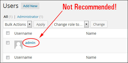 Changing Your WP Admin Username To Another User Name