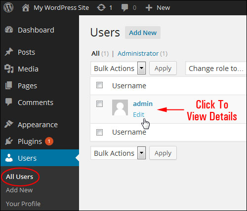 Changing Your WordPress User Name From Admin To Another Username