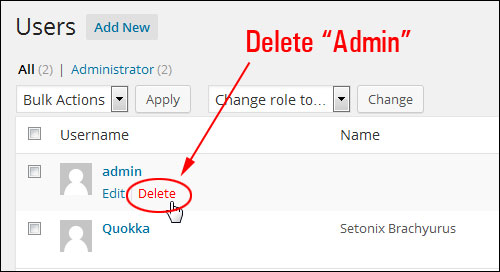 How To Change Your WordPress Admin User Name To A Different User Name