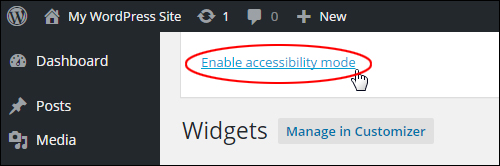 Turn on accessibility mode