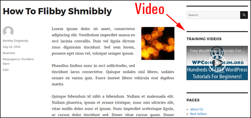 Add a video to your sidebar with the WordPress video widget