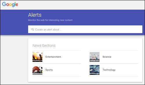 Google Alerts - free web monitoring service