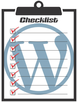 WordPress Configuration Checklist