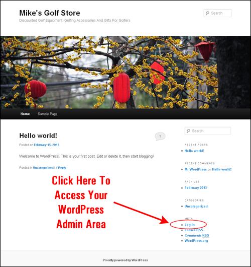 Your brand new WordPress site!