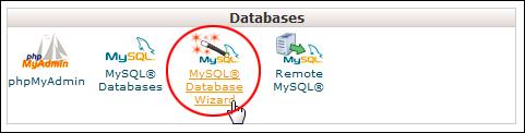 cPanel: Databases - MySQL Database Wizard